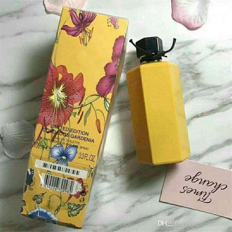 New Fashion 100ML perfume Healthy deodorant women perfume Yellow bottle Floral fragrance long lasting time spray.