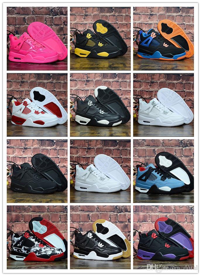 buy popular be68d e0b74 Großhandel Nike Air Jordan Aj4 Kinder Basketballschuhe 4s Die Schuhe Für  Kinder Sneakers Jungen Mädchen 4 Sportschuhe Größe 28 35 Von Doral, 64.98  Auf De.