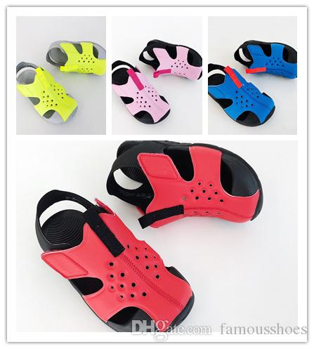eb5ff61f714b High Quality Children S SUNRAY Sandals Cover Head Waterproof Non Slip  Fashion Girls Boys Summer Sandals For Kids Girl Sport Shoes Boys Running  Shoe From ...