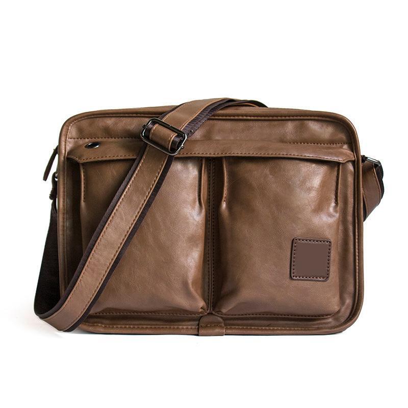 2018 Business Messenger Bag Men S Pu Leather Men Shoulder Bag Casual Male  Briefcases Vintage Crossbody Bags For Man Handbags Shoulder Bags For Women  Handbag ... 5a8395c2eb54b