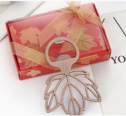 Copper Maple Leaf Beer Bottle Opener Bar Tool Wedding Favors Souvenirs Gifts Festive Party Supplies for guests