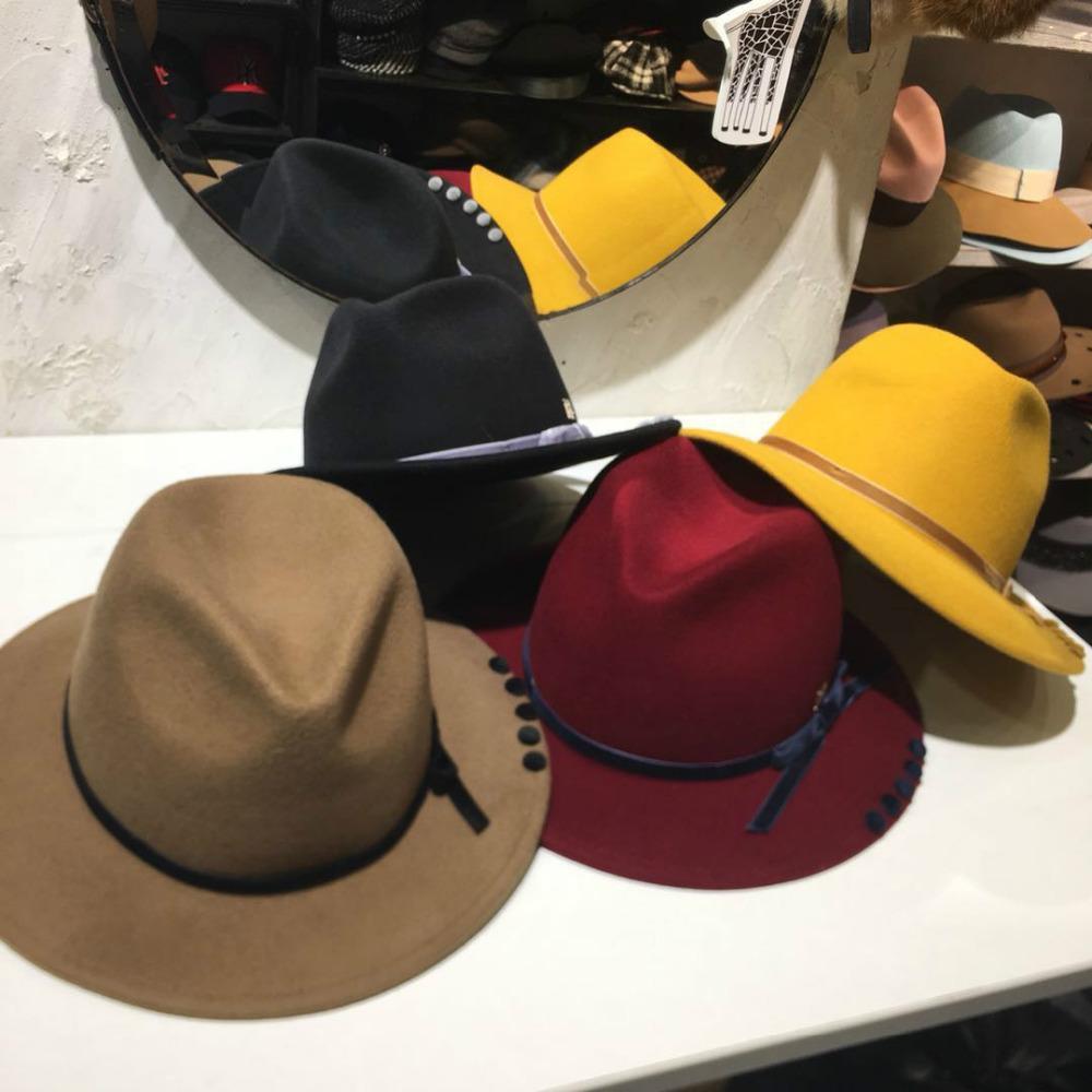 57df5a08a5486 Designer Brand Fedoras Women s Jazz Hat Winter Spring Autumn Woolen ...