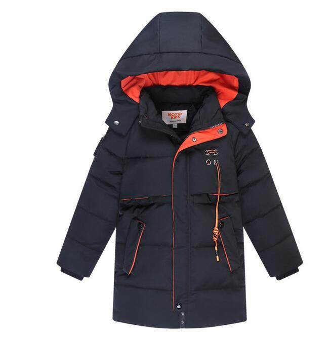 c01c1b767 New Kids Boys White Duck Down Zip Fully Lined Winter Hooded Jacket ...
