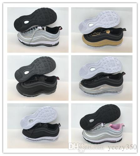 more photos c323b d094f OG 97 Silver Bullet Children Kids Running Shoes 270 27C Boy Girls Sports  Sneakers Metallic Gold Infant Student Child Trainers 720 72C Kids Running  Shoes ...