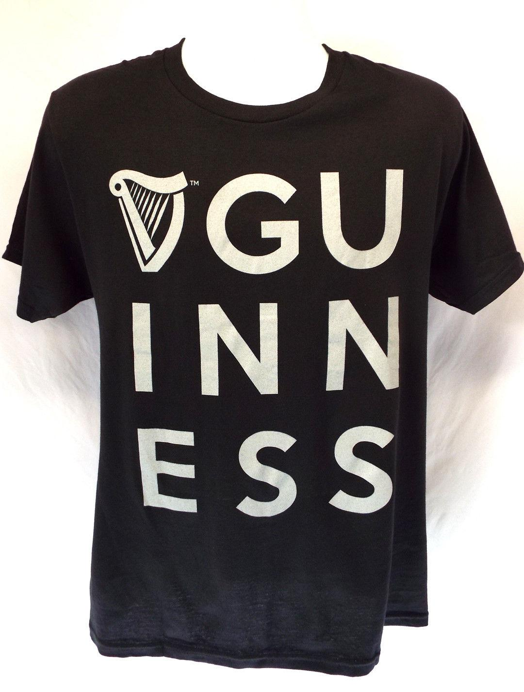298122aa5d38 Guinness Block Letter Men S Black T Shirt M XXL NEW! Beer Lovers Style  Wholesale 2018 Hot Summer Casual Printing Men S T Shirt Cool Online T Shirts  Buy In T ...