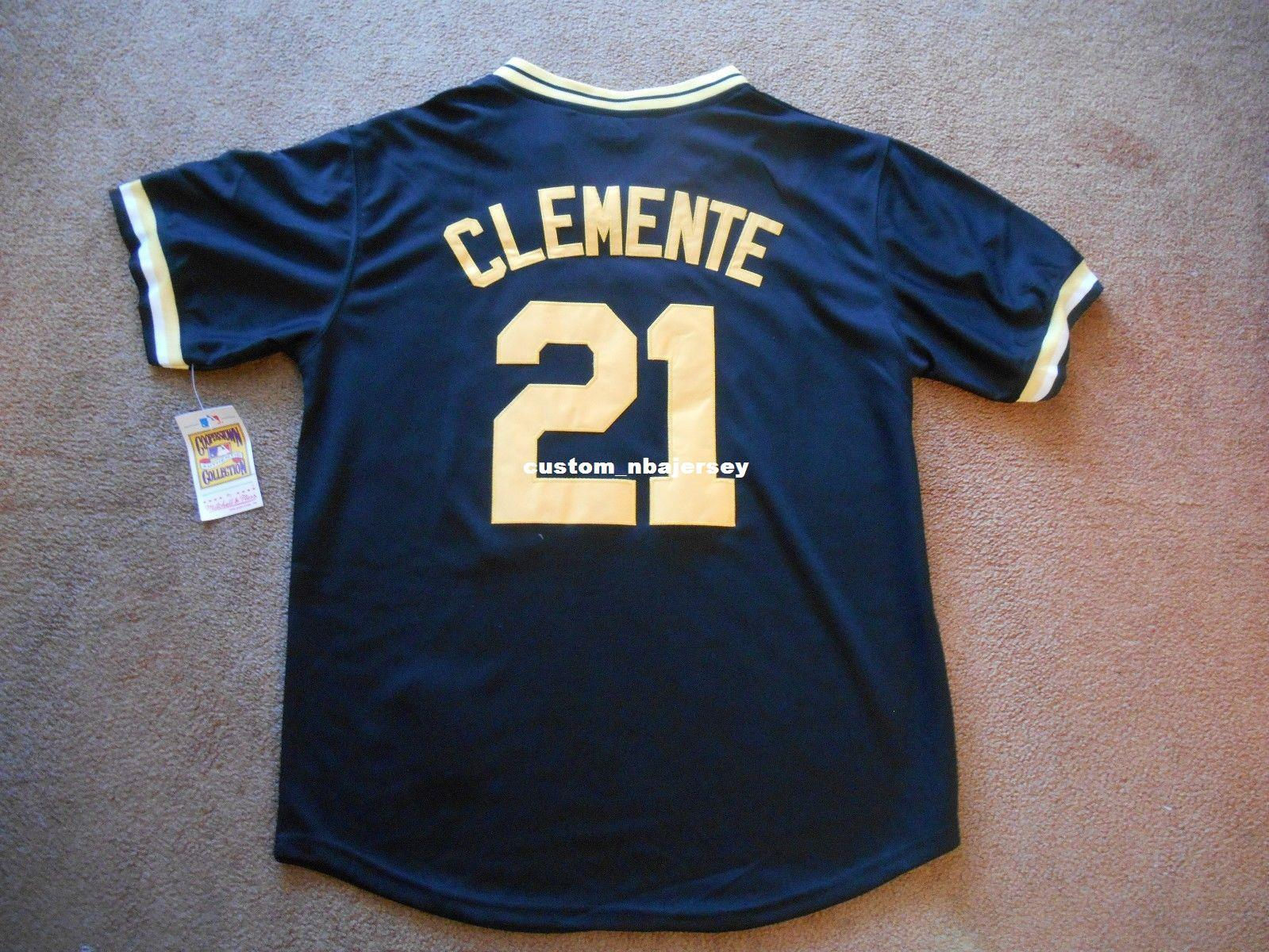 sports shoes 638c5 e46d0 Cheap custom Roberto Clemente #21 Baseball Jersey Stitched Customize any  name number MEN WOMEN YOUTH Jerseys