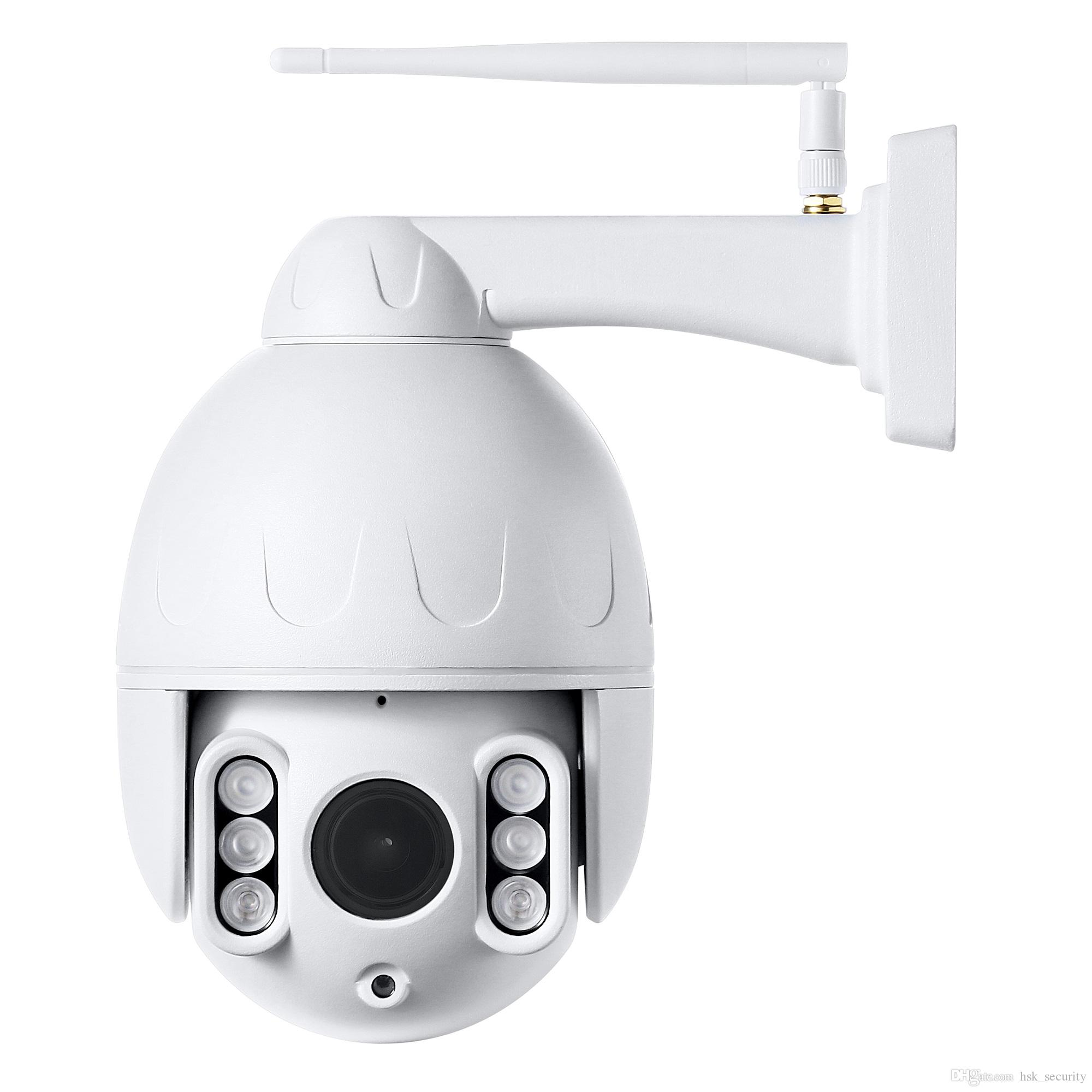 PTZ Camera Outdoor,1080P WiFi Security IP Camera, 355° Pan 120° Tilt 4X  Optical Zoom, Instant Notification of Motion Detection,165ft Night