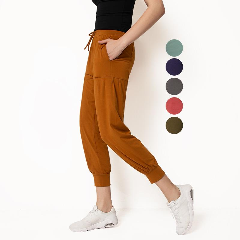 Summer Women Cropped Yoga Pant Elastic Bloomers Sport Leggings Female Loose Haren Pants Running Trouser Quick Dr Fitness Tights
