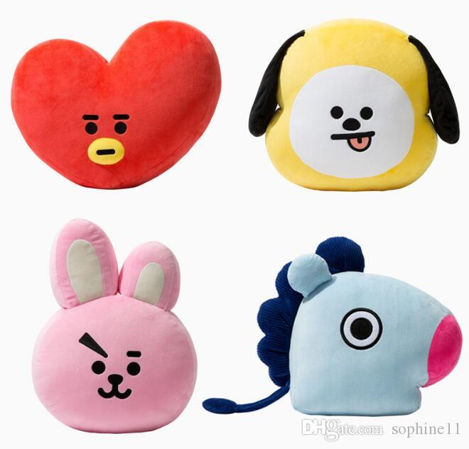 Bts Plush Pillows Soft Pillow Stuffed Plush Toy Home Decor Kpop Van