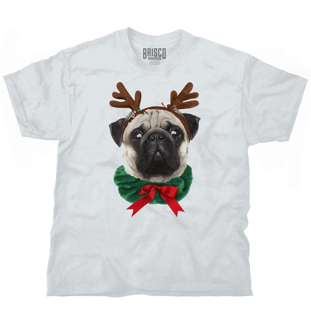 0cd759428 Pug Dog Reindeer Ugly Christmas Sweater Funny Shirt Cute Gift T Shirt Tee  Cool Casual Pride T Shirt Men Unisex New T Shirt Printers Retro Shirts From  ...