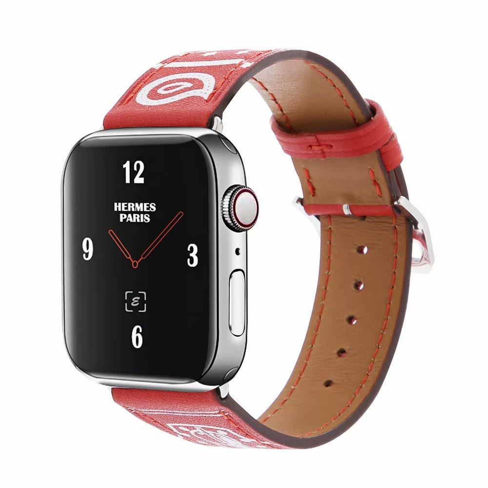99f4de06c36a Compre Banda De Reloj De Un Solo Recorrido Para Apple Watch Band 42 Mm 38 Mm  40 Mm 44 Mm Bucle De Cuero Para IWatch 4 3 2 1 Correa De Pulsera A  22.3  Del ...