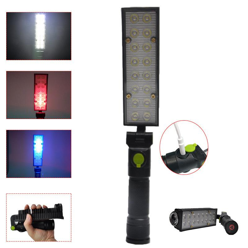 Fold Hold Cob Lamp Bottom Charge Portable Magnet More Bring Led Repair Emergency Work Function Ygbf67vy