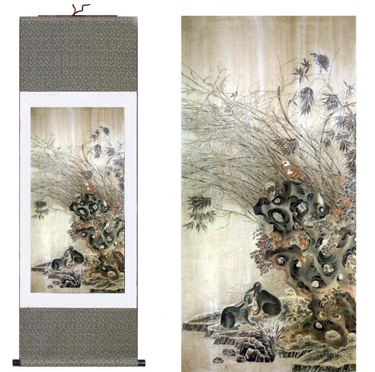 Birds And Flower Painting Home Office DecorationFlower Art Chinese Paintingprinted Painting