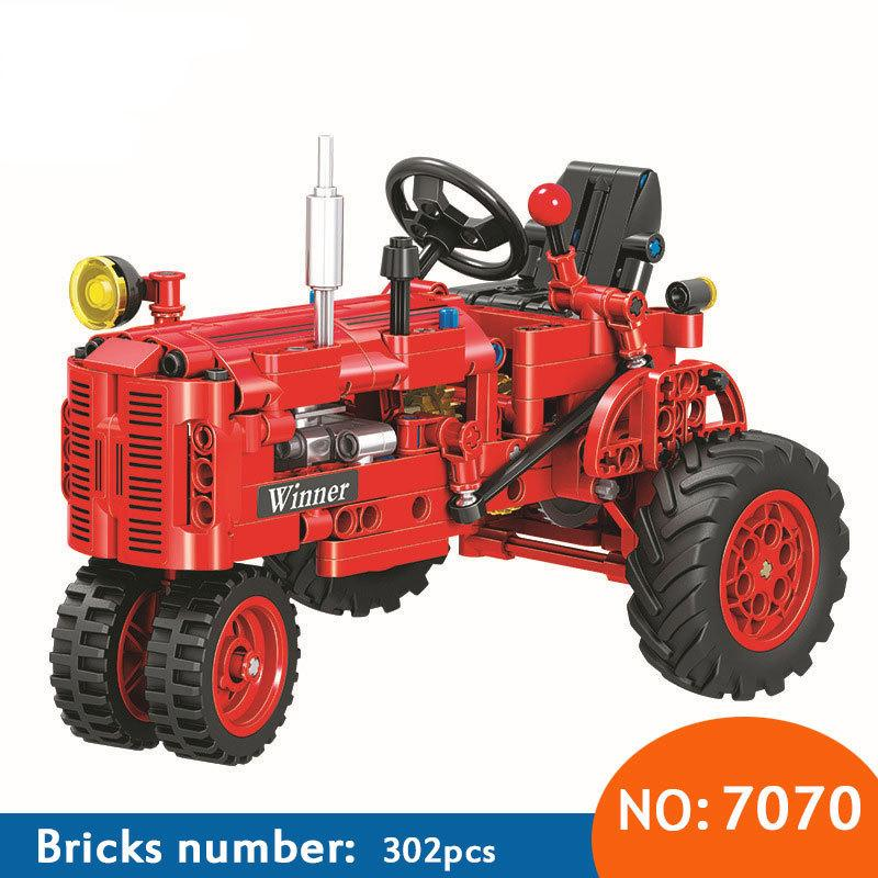 Winner 7070 302pcs Technic Classical Classic Old Tractor Building Block Diy Educational Brick Toys For Children Funny Gift Y190606