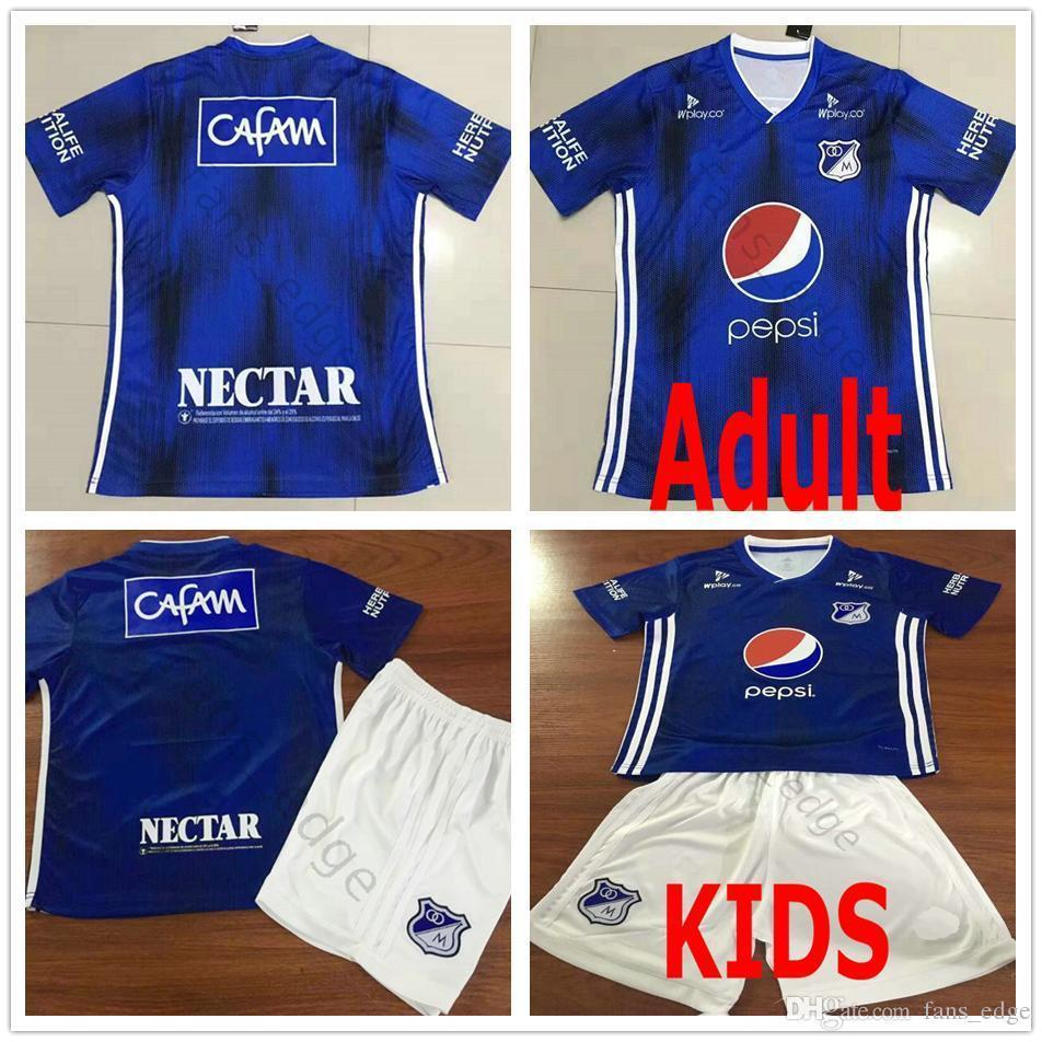 52206aa4cea 2019 19 20 Colombia Futbol Club Millonarios Football Jerseys A. Del Valle  Mosquera H. Rojas Salazar Montoya Customize 2019 Soccer Jersey Shirt From  ...