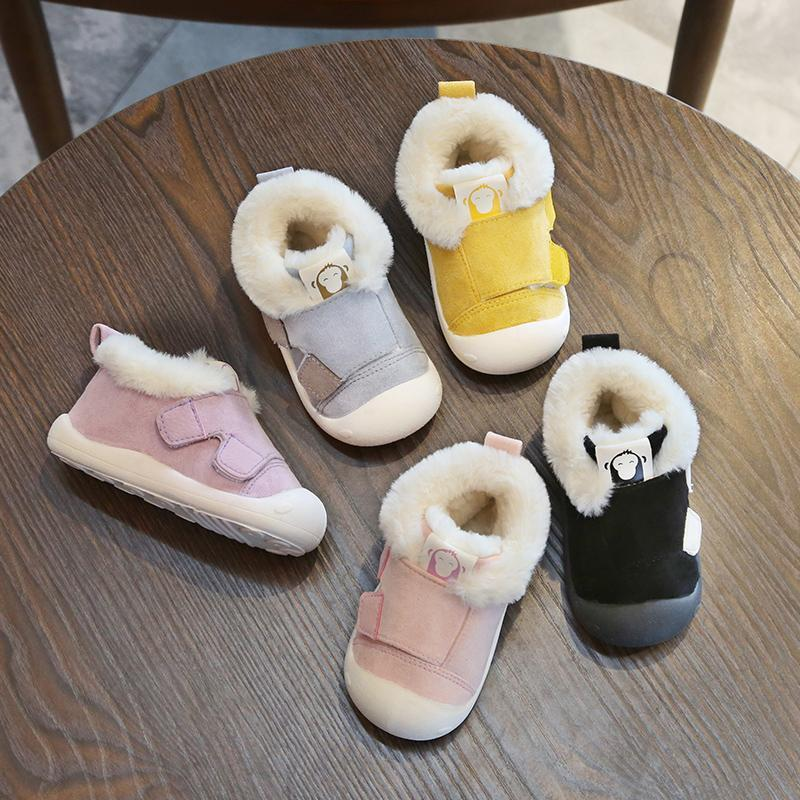 41dbb988ed2 2018 Winter Infant Toddler Boots Thickening Plush Baby Girl Boy Snow Boots  Outdoor Soft Bottom Non Slip Child Kids Boots Shoes Baby Running Shoes  Little ...