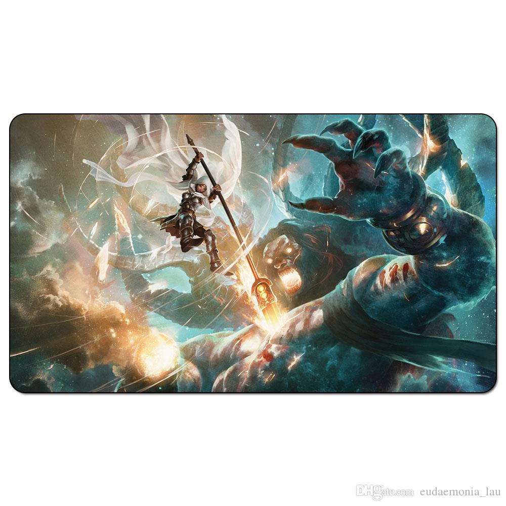 Magic Board Game Playmat:Elspeth Tirel 60*35cm size Table Mat Mousepad Play  Matwitch fantasy occult dark female wizard2Trial o
