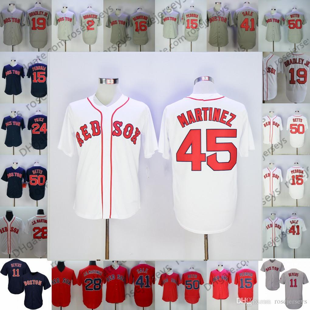 029b2dc5 2019 2019 Red Sox Jerseys Boston ##5 Nomar Garciaparra 14 Jim Rice 26 Wade  Boggs 45 Pedro Martinez Vintage Retired Blue White Gray Retro From  Rosejerseys, ...