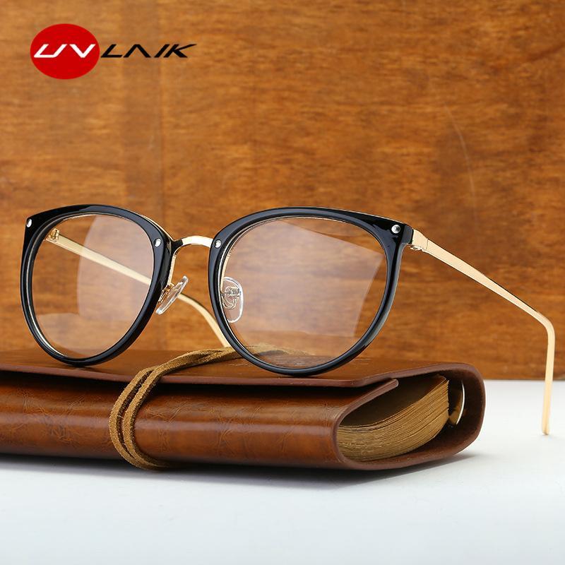 efe886e348 UVLAIK Clear Lens Optical Glasses Frame Women Transparent Lens ...