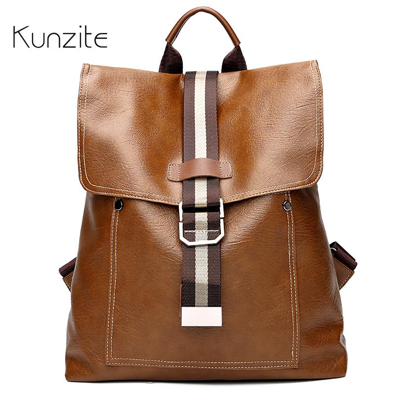 Pu Leather Backpack Bags for Women 2018 Famous Brand Casual Daypack ... dbb9a4b986e92