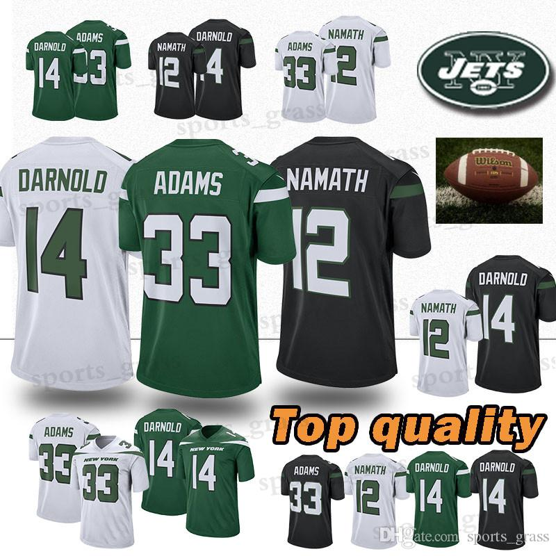 low priced 0b34a 28668 33 Jamal Adams jersey New 14 Sam Darnold York Jets jersey 12 Joe Namath  jersey 2019 new Top quality