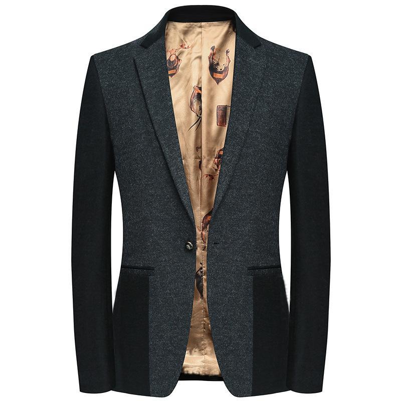 Compre FAVOCENT 2019 Primavera Otoño Hombres Slim Chaqueta De Traje De Un  Solo Botón Chaqueta De Negocios Hombre Homme Moda De Lana Casual Blazers  Coat A ... 488ae5420b9