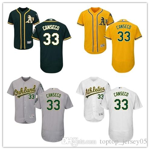 online retailer eedc8 2cd5e 2018 can Oakland Athletics Jerseys #33 Jose Canseco Jerseys  men#WOMEN#YOUTH#Men's Baseball Jersey Majestic Stitched Professional  sportswear