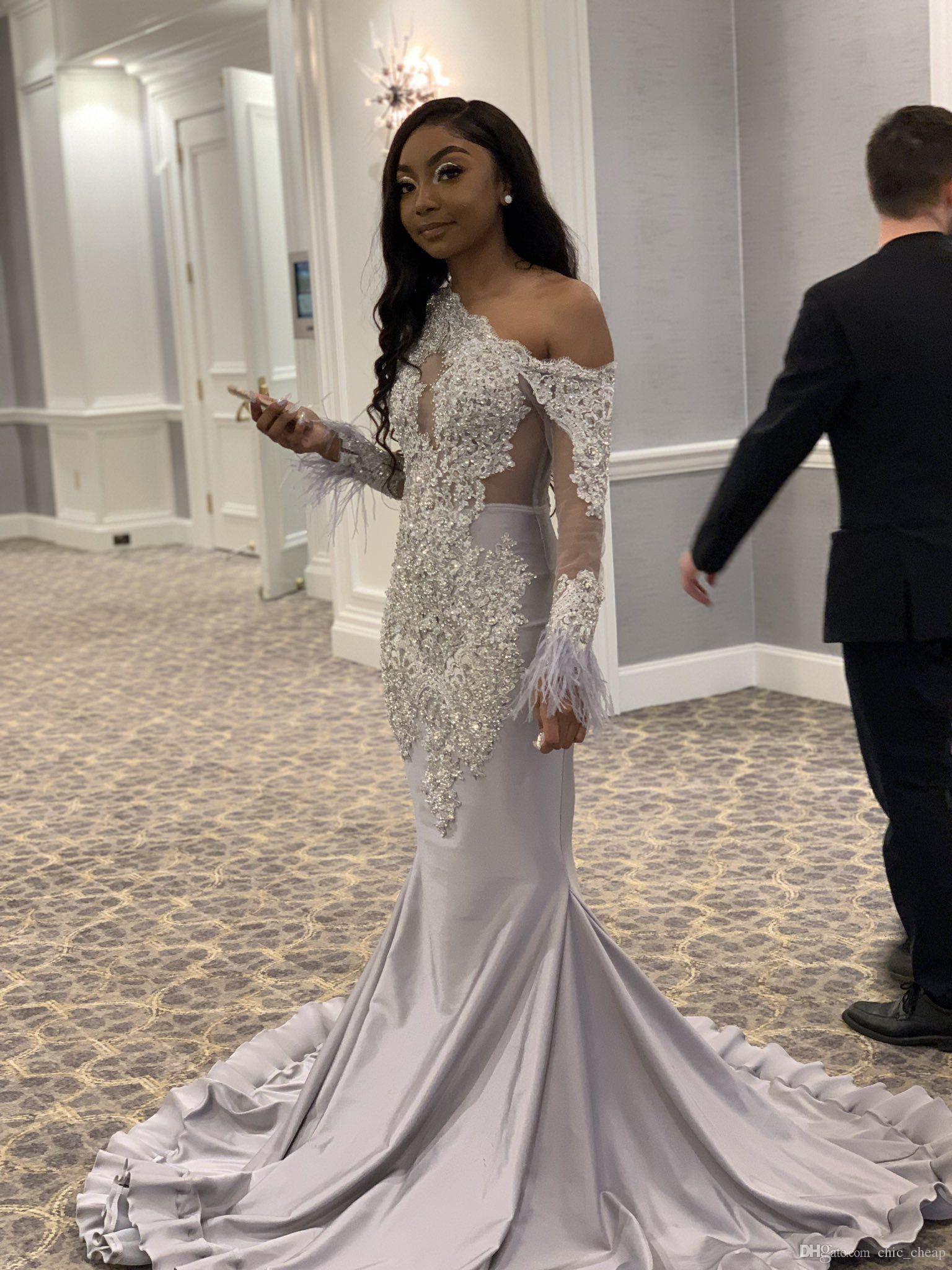 Silver Beaded Plus-Size Ballgown Wedding Dress - Essense