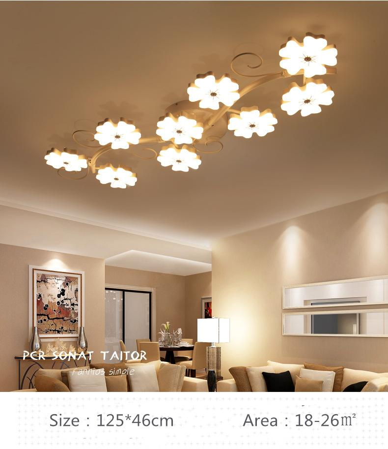 2019 Creative Living Room Lighting Led Roof Lighting Modern Simple Warm  Romantic Plum Flower Bedroom Dining Room From Goddard, $202.17 | DHgate.Com