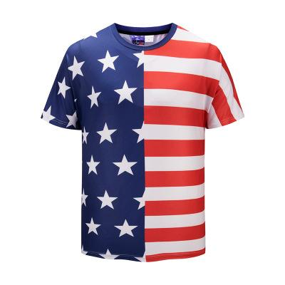 8669cca04f28 2019 New Fashion Summer Cool 3D Printed American Flag 5 Star T ...