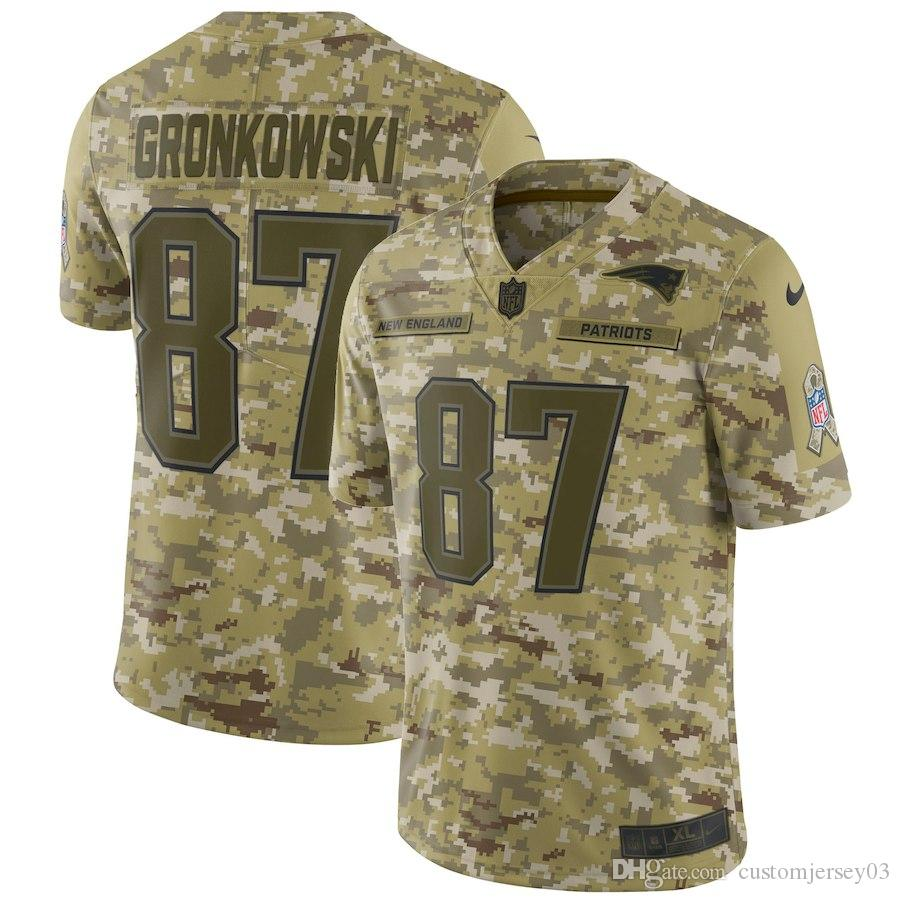 2019 2019 Men S New Patriots  87 Rob Gronkowski Camo Salute To Service Limited  Jersey From Customjersey18 611dfacf3