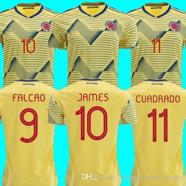 b55edf24b Colombia Soccer Jersey Copa America 2019 Colombia Football Shirt JAMES  Rodriguez Camiseta De Futbol FALCAO CUADRADO Maillot De Foot Camisa Online  with ...