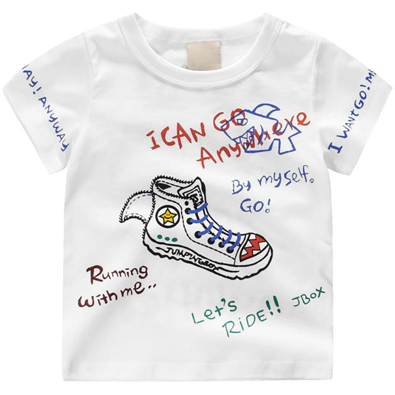Kids T-Shirt Boy Girl Basic T Shirts Printing Top Tees Children Casual Clothing Baby Boys Girls Design Shirts For 2-8 Years