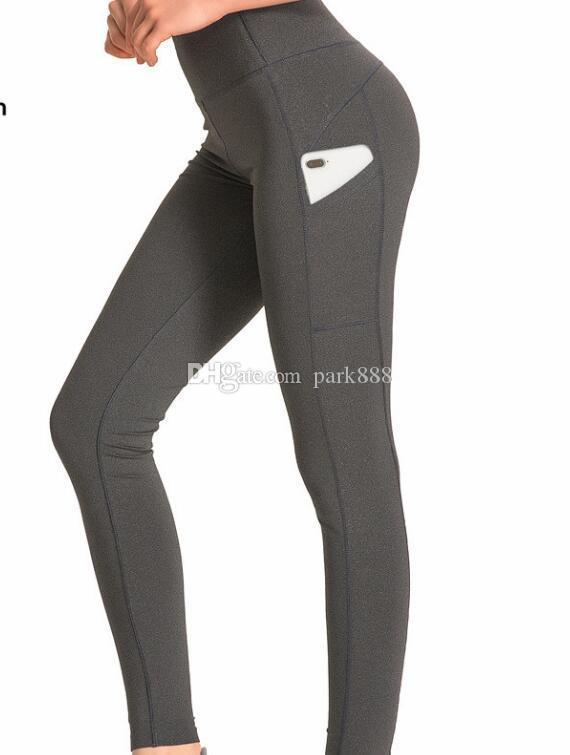 c95541c897f3e 2019 Canada L U L U Brand Yoga Pants With Pockets For Women Solid High  Waisted Gym Running Tights Stretchy Yoga Pants Pockets Pan US Size S XL  From Park888, ...