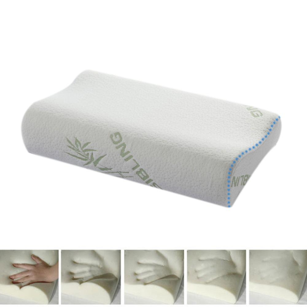 High Quality Bamboo Fiber Pillow Slow Rebound Memory Foam Pillow Health Care Massager Travesseiro Almohada U0301