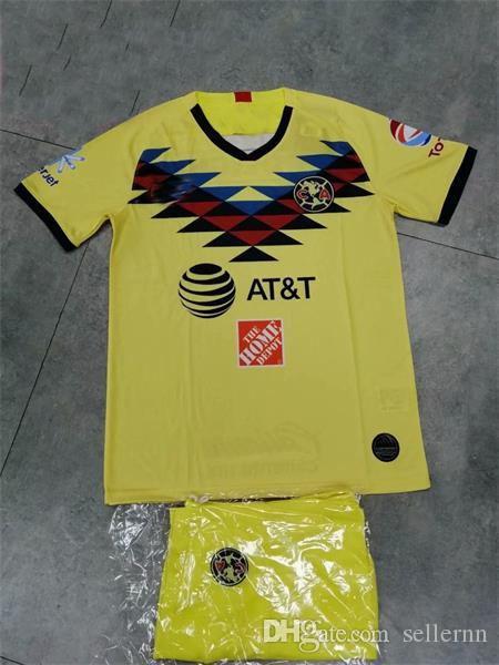 8448d2fe38d 2019 2020 LIGA MX Club America Soccer Jersey MEN KITS O.PERALTA I.RENATO 19/2  Mexico's Home Away Football Shirt Adult Sets