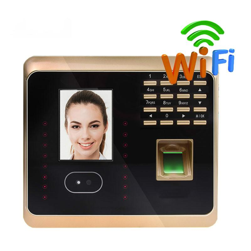 ZK UF100Plus Face Recognition Time Attendance System With Fingerprint  Reader TCP/IP WIFI Facial Time Clock