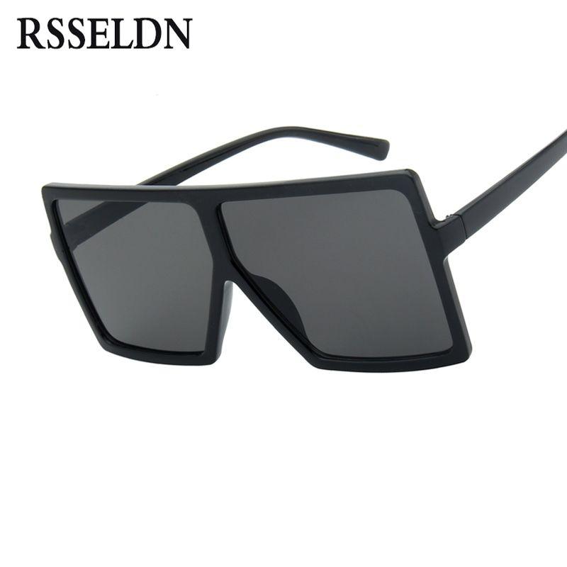 32b98b14ca4 2019 RSSELDN Oversized Sunglasses Women Big Frame Square Sun Glasses Men  Brand Designer 2019 New Vintage Gradient Shades Eyewear 6547  16303 From  Feiteng006 ...