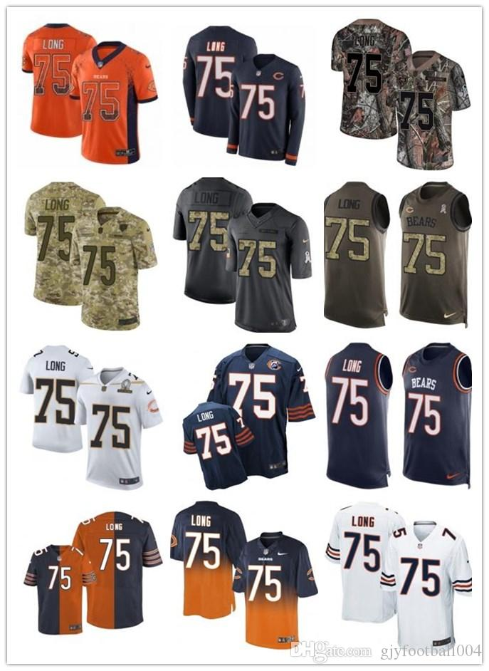the latest 3a7d6 0a633 2019 custom any numa number best Rugby jersey Wear Chicago 75 Kyle Long  Bears men/WOMEN/ YOUTH Rugby Jerseys s-xxxxl free ship
