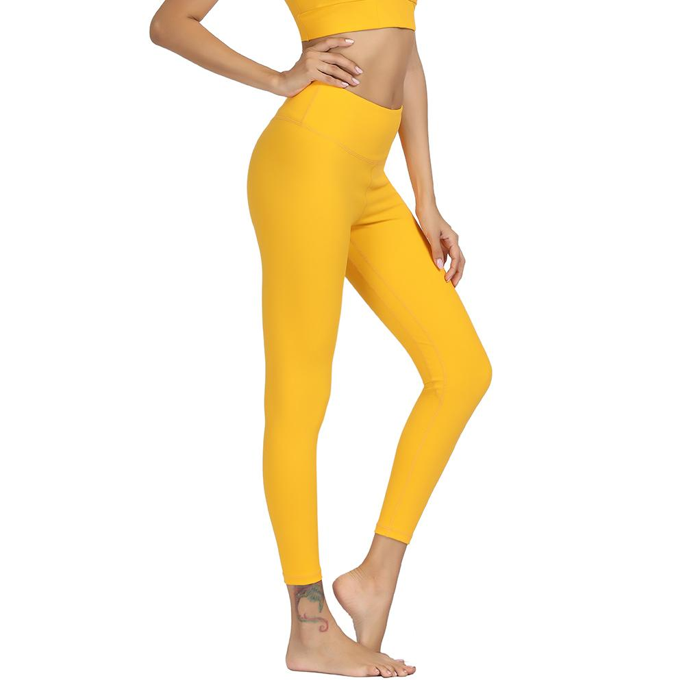 407968f3ef 2019 Women Yoga Pants Solid High Waist Push Up Energy Seamless Sport Tight  Leggings For Fitness Gym Running Tummy Control Trousers C19042201 From  Shen07, ...