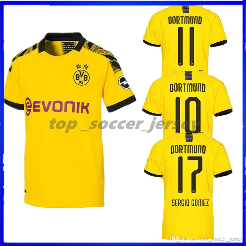 fe4a94b1c29 2019 Thailand Borussia Dortmund Soccer Jersey 2019 2020 PHILIPP GOTZE REUS  PULISIC WITSEL 19 20 PACO ALCACER KAGAWA Football Shirt Uniforms From ...