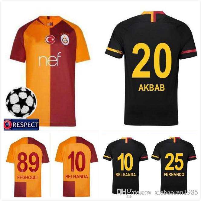 533a97e3ea9 2019 2 18 19 Turkey Galatasaray Soccer Jerseys Home Away GOMIS 2018 2019  CIGERCI BELHANDA FERNANDO FEGHOULI FOOTBALL SHIRTS THAILAND QUALITY From ...