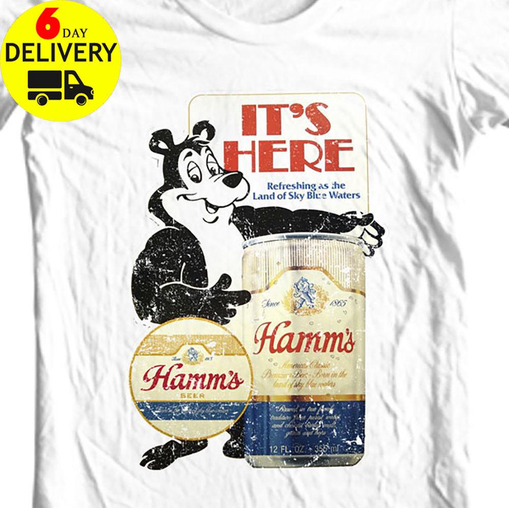 45f300099bb473 Hamm S Beer T Shirt Bear Retro Vintage Style Distressed Print Shirt  UnisexFunny Unisex Casual Tee Gift Top 10 T Shirts Cool Shirts Designs From  ...