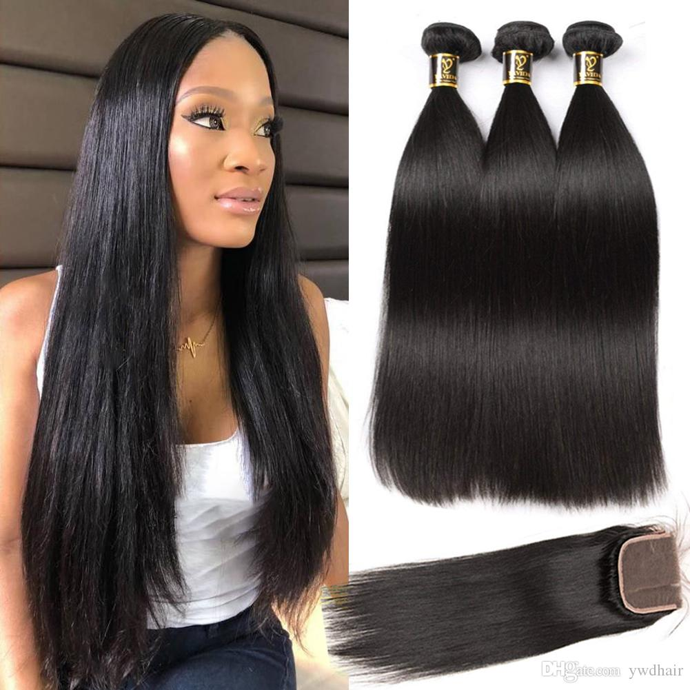 Straight Peruvian hair with closure