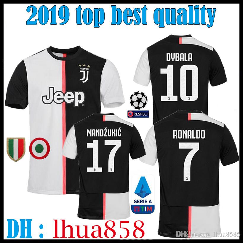 5569d744dda 2019 Thailand 2019 2020 Juventus Home Soccer Jersey Football Shirt RONALDO  19 20 Uniforms Champions League Bernardeschi DYBALA JUVE EA SPORTS From  Lhua8585
