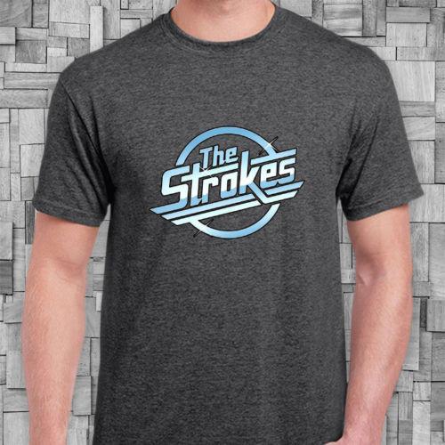34bd517c The Strokes Metal Punk Band Logo Dark Grey T-shirt Men Women Unisex Fashion  tshirt Free Shipping Funny Cool Top Tee Black