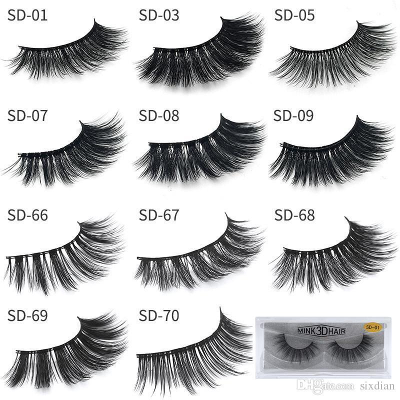 db08be01188 17 Styles New 3D Mink Eyelashes False Eyelash Eye Lashes Extension Sexy  Eyelash Soft Natural Thick Fake Eyelashes 3D Eye Lash Makeup Tools Mink  False ...