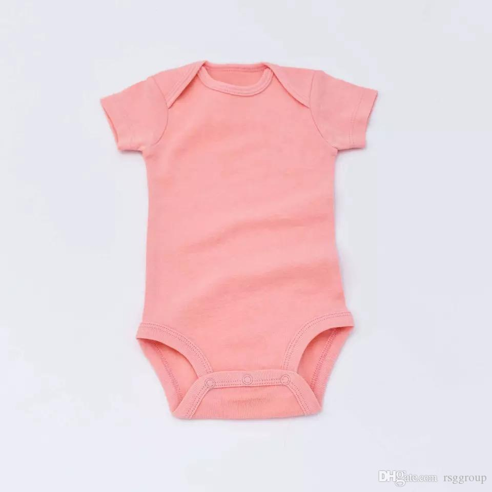 0f56ba8727e0 2019 Factory Price Must Have Newborn Baby Girls Jumpsuits 100% Cotton Short  Sleeved One Piece Lovely Newborn Girls Jumpsuits Baby Girls Jumpsuits From  ...