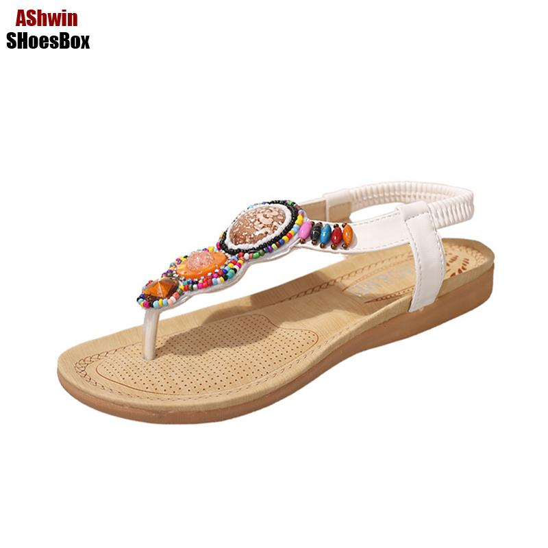 8b1de0e6d Bohemia Thong Sandals Handmade Beads String Vintage Beach Flats Sandal Flip  Flops Comfort Walking Shoes Ethnic Gladiator Sandals Ladies Shoes Red Shoes  From ...