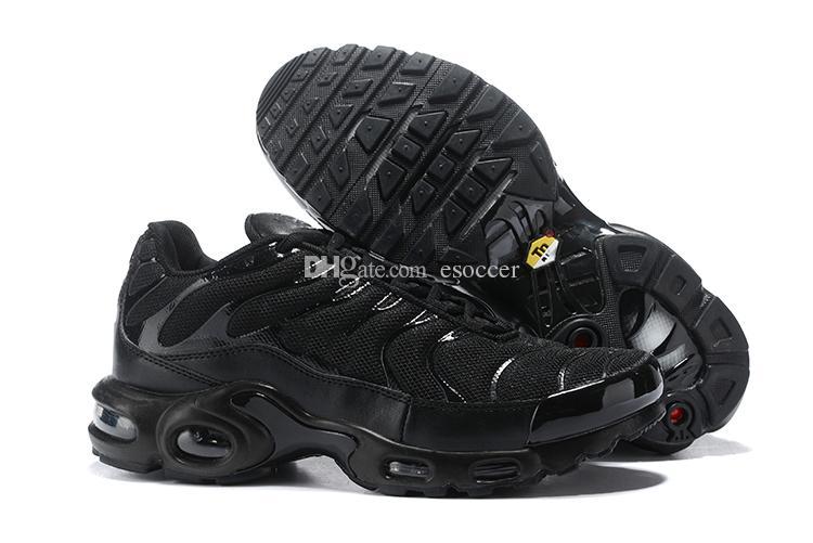super popular eaec2 3718b Acheter Tout Noir TN Classic Hommes Chaussures De Course 2019 Streetwear  Mens Green Olive Trainers Chaussures De Sport De Designer Baskets 40 46 De   50.77 ...